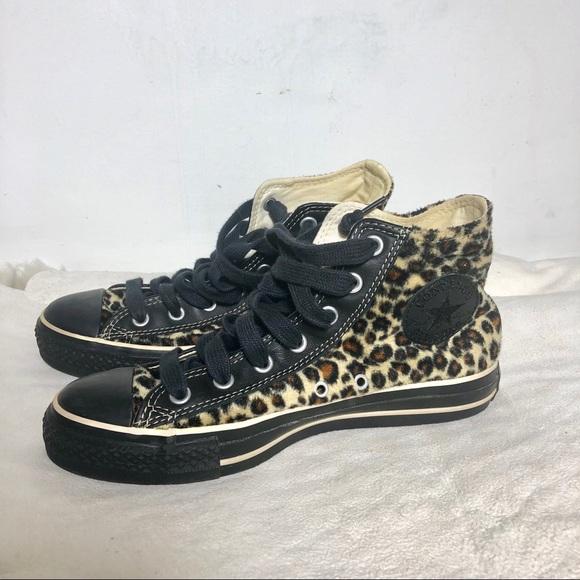 9a36c2c2bb1 Converse Shoes - Converse Leopard Cheetah Print High Top Sneakers